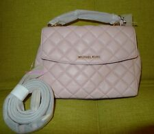 Michael Kors Ava Small Top Handle Quilted Leather Satchel Crossbody Blossom