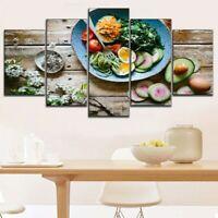 Fruit Egg Fresh Salad Mix 5 Pcs Canvas Wall Art Print Picture Poster Home Decor