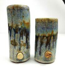 Blue Pottery Salt and Pepper Shaker Kitchen Decor