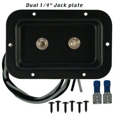 """Speaker jack plate with 2 Neutrik 1/4"""" connectors for PA or Guitar cabinets"""
