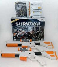 NEW 2-GUN BUNDLE Cabela's Survival Shadows of Katmai Wii/Wii-U Game Set Top Shot