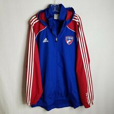 Adidas Mens FC Dallas Soccer Full Zip Vented Hooded Hoodie Jacket Size XL CL01