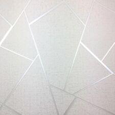 Fine Decor Quartz Metallic Apex Silver Geometric Luxury Wallpaper FD42280