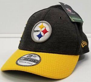 GN)Toddler-Child Pittsburgh Steelers New Era 2018 NFL Sideline 39THIRTY Flex Hat