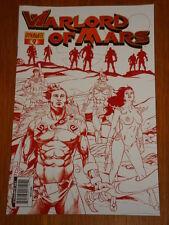 WARLORD OF MARS VOL 1 #9 RI MARTIAN RED COVER DYNAMITE STEPHEN SADOWSKI