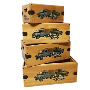 Land Rover Series Box Wooden Spares Crate Classic Tools Vintage Landrover Gift