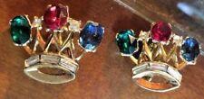 Signed Crown Trifari A. Philippe Coronation Royal Crown Earrings