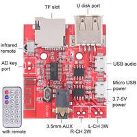Bluetooth-Audioempfängerplatine USB Soundkarte 3Wx2Verstärker UDiskUnterstützun