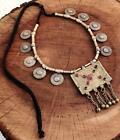 Vintage Handmade Rare Kuchi Banjara Tribal Afghan Gypsy Ats Pendant Necklace