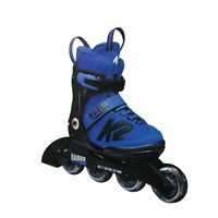 K2 Raider Kid's Inline Skates-Black / Blue-4-8
