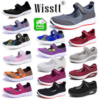 Womens Ankle Strap Flat Antiskid Breathable Beach Sandals Slip on Trainers Shoes