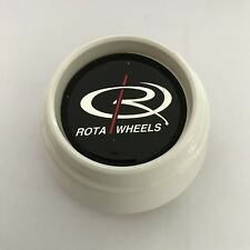 ROTA WHEELS WHITE CENTRE CENTER CAP HIGH LEVEL (SINGLE)