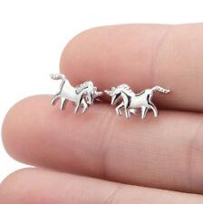 Ohrstecker Ohrring Pferd Einhorn aus Sterling Silber 925