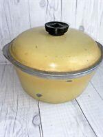 Club Aluminum Harvest Yellow 4 QT Dutch Oven Stock Pot Roaster With Lid