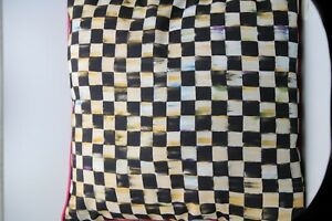 """MACKENZIE-CHILDS COURTLY CHECK/STRIPE,20"""" x 20"""" Preowned"""