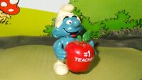 Smurfs Red Apple Smurf #1 Teacher 20160 Rare Original Vintage Display Figurine