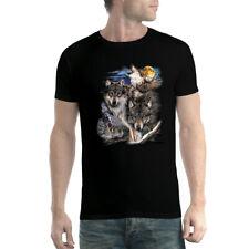 Wölfe Mond Zelt Dorf Herren T-Shirt xs-5xl