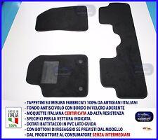 Tappetini moquette auto per Alfa Giulietta dal 2014> tappeti + bottoni NO LOGO