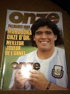 ONZE Magazine Football Foot 132 Maradona Avec Poster