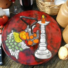 Vintage French Ceramic Cheese Board. Mid Century Cheese Platter. Cheese Serving.