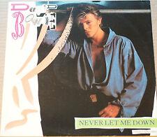 "David Bowie Never Let Me Down 12"" 45RPM Extended Dance Mix EX- 4 Track"