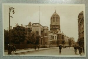 Oxford University Postcard: Christ Church College from Street. Unposted