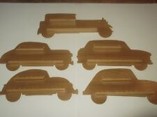 Stock Clearance 5 x 18pc Cars Wooden Thimble Display Racks ( Pine )