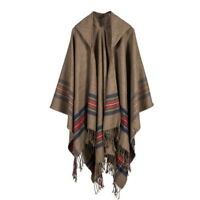 Fuax Cashmere Tassel Scarf Cape Printed Wrap Shawl Blanket Cloak Patchwork Plaid