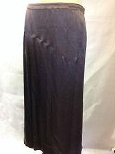 KEW gorgeous bronze brown satin maxi evening skirt UK 12