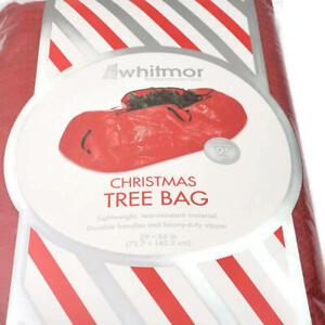 Whitmor Christmas Tree Bag Storage Organization Large Up to 9 ft Tree Red