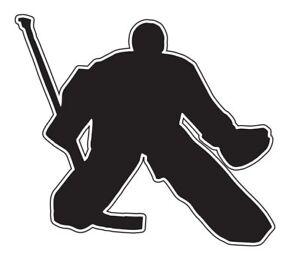 Aufkleber Eishockey Torwart I schwarz