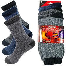 3 Pairs Men's Winter Thermal Warm Socks Heavy Duty Sock Size 10-13
