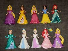 LOT Of 10 Disney Princess Magiclip Magic Clip Dolls Figures w/ Dresses