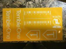 Terrible One Barcode Mid School BMX sticker sheet Yellow ... NOS genuine