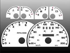 1998-2003 Ford Ranger Explorer METRIC KPH Dash Cluster White Face Gauges
