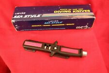"Wenoka Sea Style Diving Knife ""Blackie Collins"" 9112 420 S Steel w Sheath"