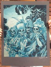 John Baizley Metallica Four Horsemen Signed Numbered Monochrome Print Poster