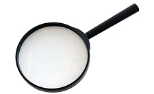 """Amtec 100mm (4"""") Hand Held Magnifying Glass Large Magnifier 3 X Glass Lens"""