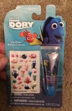 Disney Pixar Finding Dory 26 pc Blueberry Flavored Lip Gloss & Nail Stickers