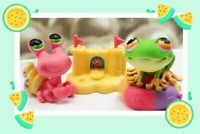 Littlest Pet Shop LPS Rare Red Hermit Crab #62 And Tree Frog #264 +accessories