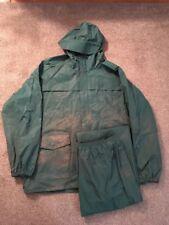 Mens Columbia Polyurethane Hooded Parka/Rain Jacket & Pants, Green, Sz XL