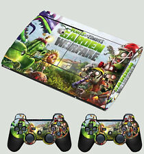PLAYSTATION PS3 SUPER SLIM PLANTS VS ZOMBIES 01 SKIN STICKER & 2 X PAD SKINS