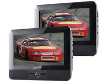 """Supersonic SC-198 7"""" Dual Screen Portable/Rechargeable DVD/MP3 Player +USB/SD"""
