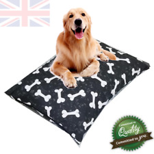 """Black Bones Dog Bed Zipped Removable Washable Cover Large 29"""" x 39"""""""