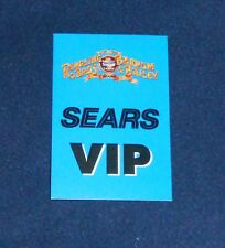 Ringling Brothers Barnum & Bailey Sears VIP Backstage Pass