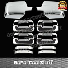 For Ford F-150 Xlt/Fx4 04-08 4Drs Handle W/Out Pskh+Mirror 2Pc Chrome Covers
