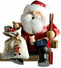 Weihnachtsdekoration Erzgebirge Räuchermännchen Kantenhocker Weihnachtsmann groß