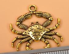 20pcs Antique Gold  crab Charm Pendant beaded DIY Jewelry 25mm