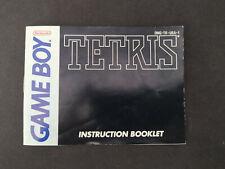 Notice Tetris Nintendo GameBoy DMG-TR-USA