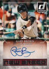 GARY BROWN 2016 Donruss New Breed  RC Autograph San Francisco Giants